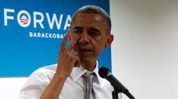 Obama verse une larme