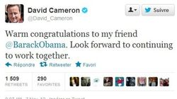 La dernière tendance diplomatique? Féliciter Obama via Twitter!