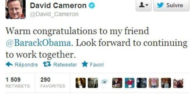 Twitter et Obama: féliciter la victoire du président américain via Twitter, la dernière tendance des...