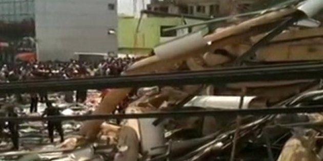 Ghana: effondrement d'un centre commercial de six étages à Accra, la