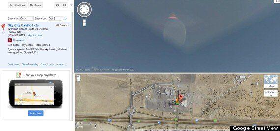 Deux ovnis découverts dans le ciel aux États-Unis grâce à Google Street View