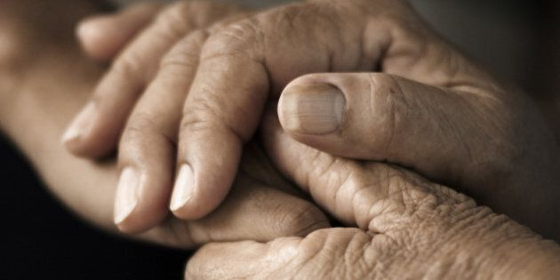 hands of an elderly