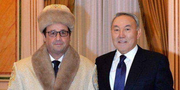Une photo de François Hollande en toque et pelisse de fourrure au Kazakhstan inspire le web et embarrasse
