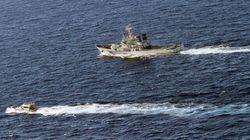 Des navires militaires chinois à proximité d'îles