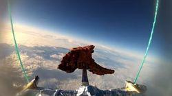 Une côte d'agneau dans l'espace... pour faire de l'art?