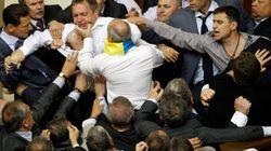 Bagarre générale au Parlement ukrainien!
