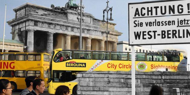 25 ans de la chute du Mur de Berlin: ces photos fusionnnent passé et présent, est et