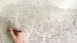 Un artiste britannique dessine New York en quatre jours