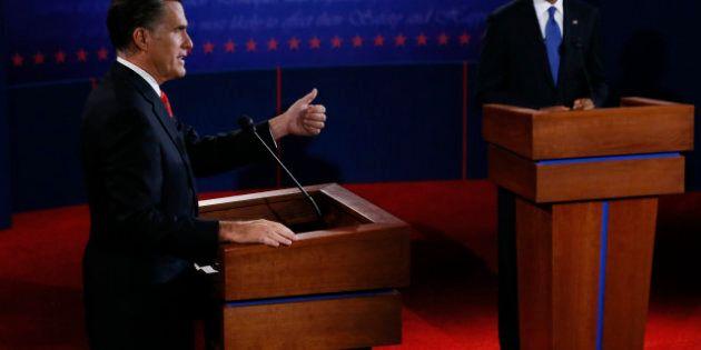 Débat Obama Romney: première manche pour le