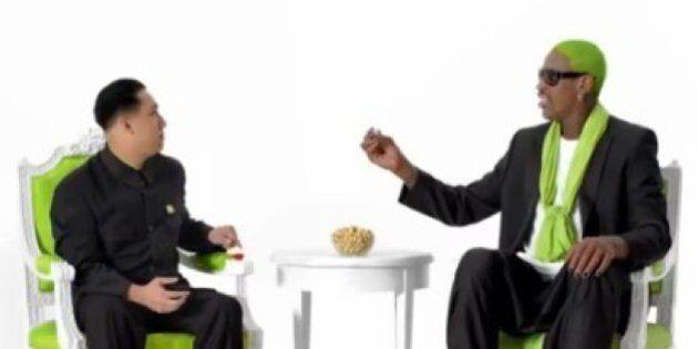 Que fait Rodman avec Kim Jong-un et des pistaches ?