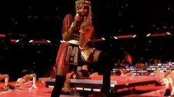 Madonna contrariée, un doigt d'honneur de