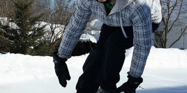 Un Québécois conçoit sa piste de Crashed Ice chez
