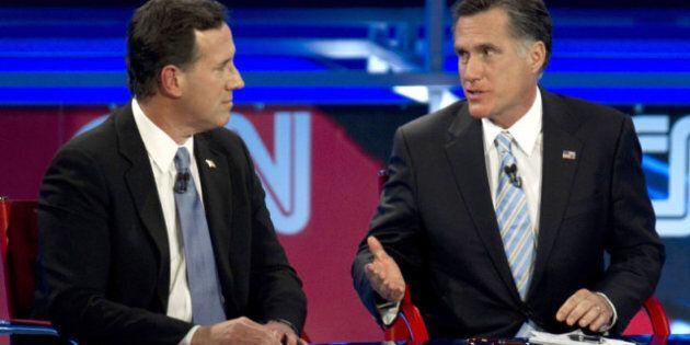 Course républicaine: Romney et Santorum à couteaux tirés dans un débat