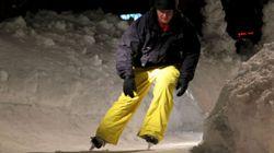 Photos: compétition sur une piste de Crashed Ice
