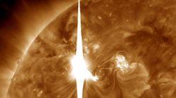 Tempête solaire: les effets sur la Terre ont été moins grands que