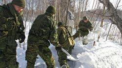 Les soldats américains débarquent à Québec