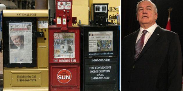 Conrad Black croit que certains journaux canadiens sont des