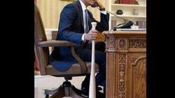 Polémique: Obama avec une batte de