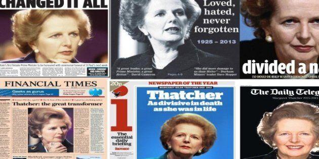 Mort de Margaret Thatcher: découvrez les unes (divisées) de la presse britannique
