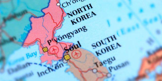 Map of North Korea. Selective