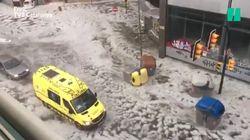 L'Espagne subit des averses de grêle terribles après une vague de