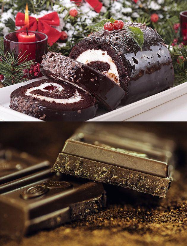 Bûche de Noël, chocolat