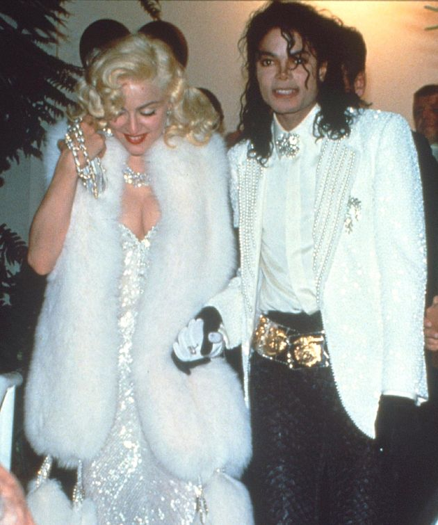 Madonna and Michael Jackson at the 1991 Academy