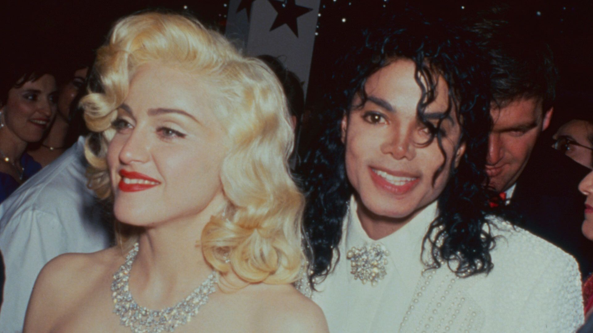 Singers Madonna and Michael Jackson at the Academy Awards. (Photo by Time Life Pictures/DMI/The LIFE Picture Collection/Getty Images)
