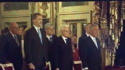 La reacción del rey Felipe VI en Italia cuando en vez del himno de España cantan
