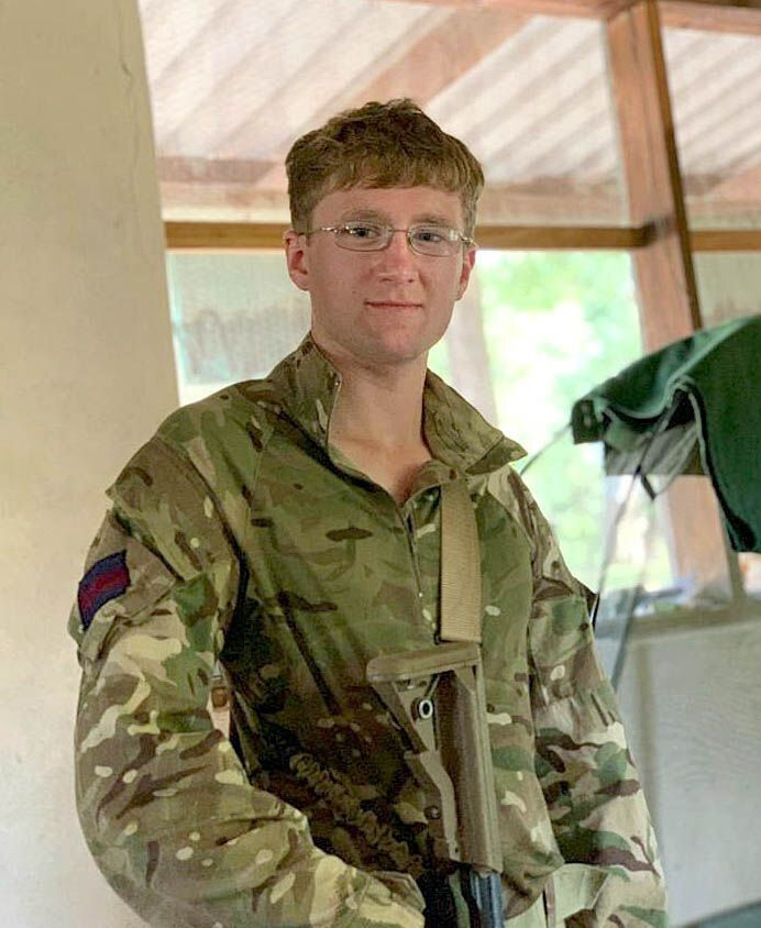 Mathew Talbot, of The 1st Battalion Coldstream Guards, who has died while on counter poaching operations in Malawi, the Ministry of Defence has announced. It is understood Guardsman Talbot was killed by an elephant whilst on patrol. (PA)