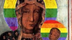 Γέμισε την Πολωνία με αφίσες της Παναγίας με φωτοστέφανο ουράνιο τόξο και