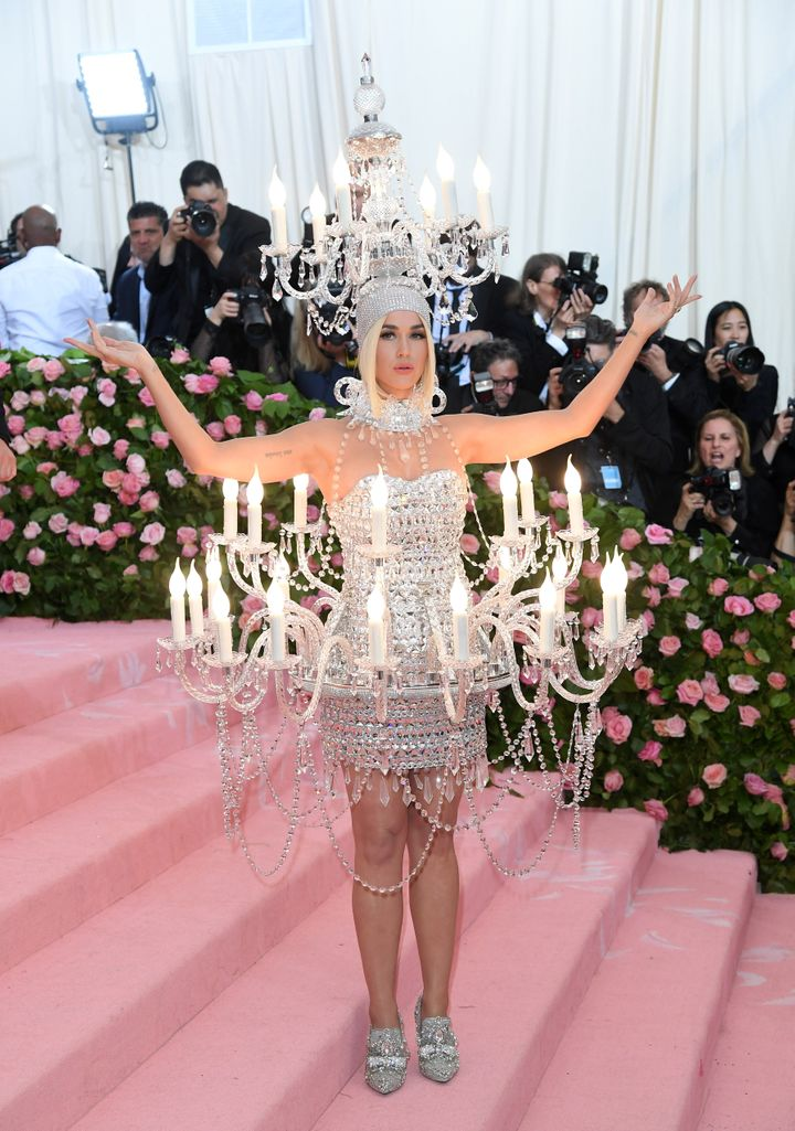 Katy Perry arrives at the 2019 Met Gala in New York City on Monday night.