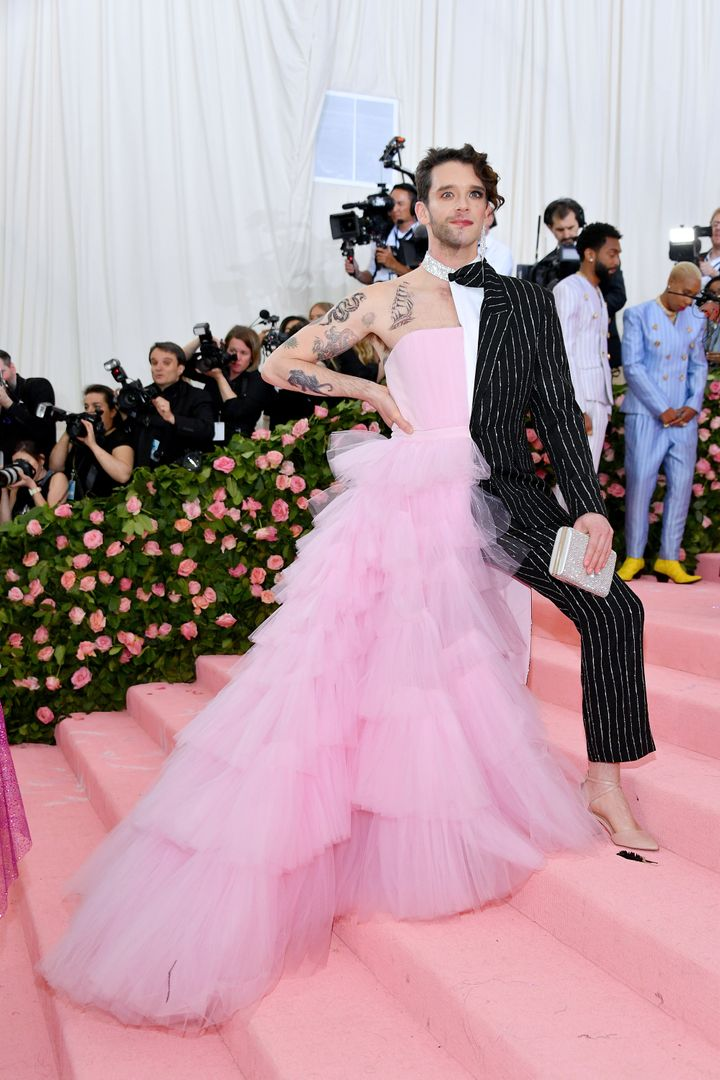 Michael Urie on the Met Gala's pink carpet.