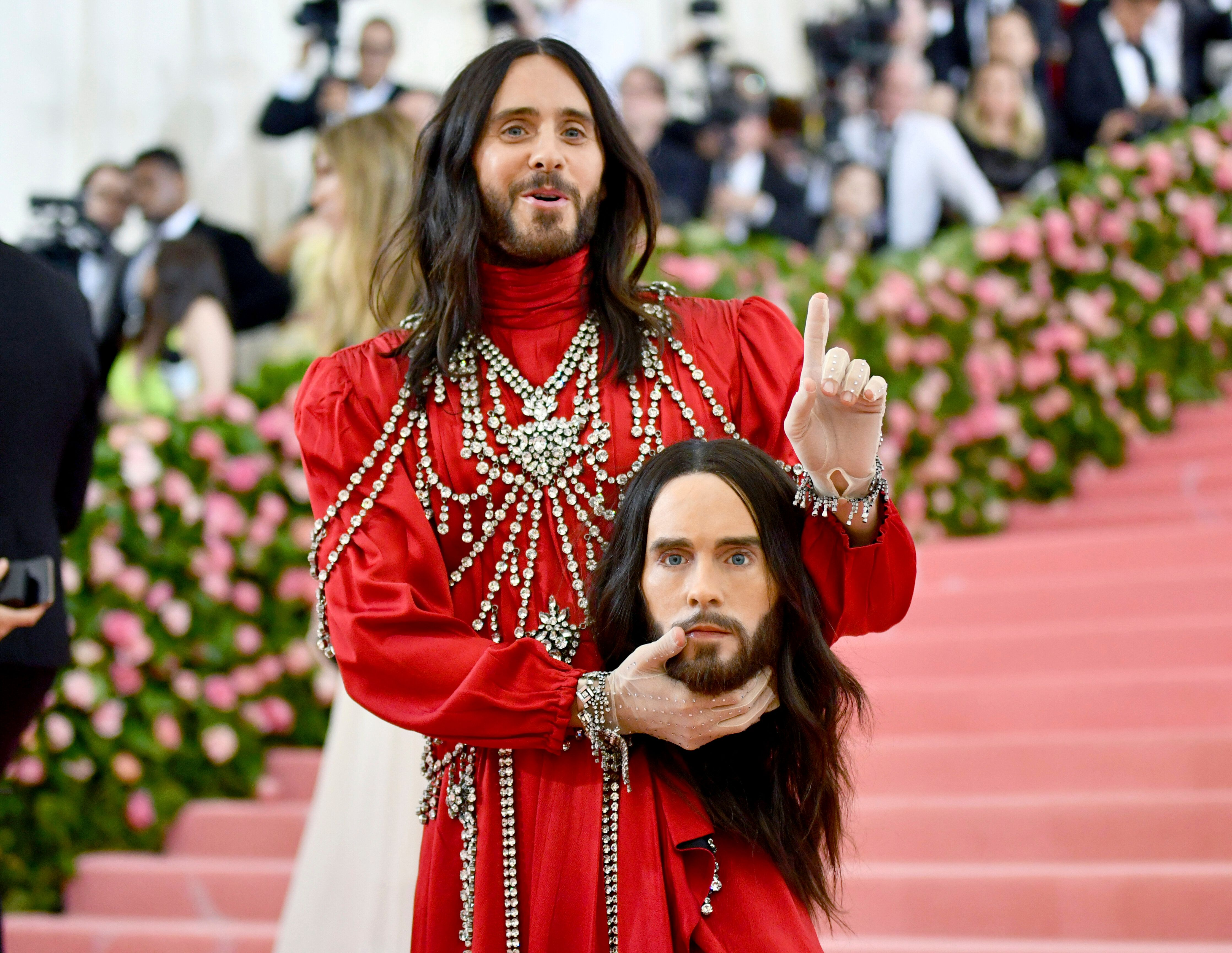 Leto arrives for the 2019 Met Gala celebrating Camp: Notes on Fashion at The Metropolitan Museum of Art on May 6, in New York