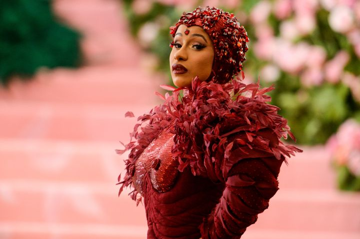 Cardi B attends the 2019 Met Gala celebrating Camp: Notes on Fashion at Metropolitan Museum of Art on May 6.
