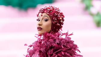 NEW YORK, NY - MAY 06:  Rapper Cardi B is seen arriving to the 2019 Met Gala Celebrating Camp: Notes on Fashion at The Metropolitan Museum of Art on May 6, 2019 in New York City.  (Photo by Gilbert Carrasquillo/GC Images)