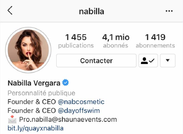 La désormais Nabilla