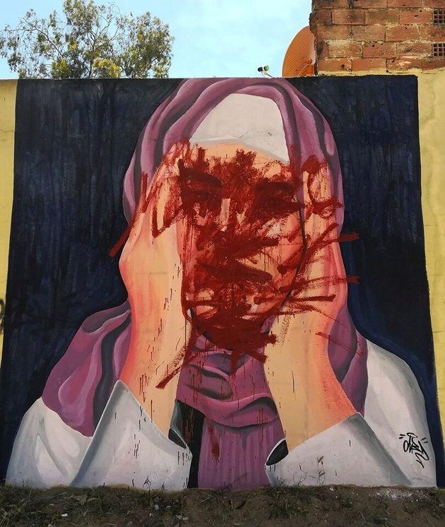 La toile en colère après le saccage d'une fresque à Souq