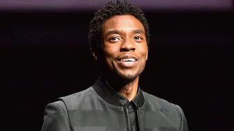 LAS VEGAS, NV - APRIL 02:  Chadwick Boseman speaks onstage at CinemaCon 2019 The State of the Industry and STXfilms Presentation at The Colosseum at Caesars Palace during CinemaCon, the official convention of the National Association of Theatre Owners, on April 2, 2019 in Las Vegas, Nevada.  (Photo by Matt Winkelmeyer/Getty Images for CinemaCon)
