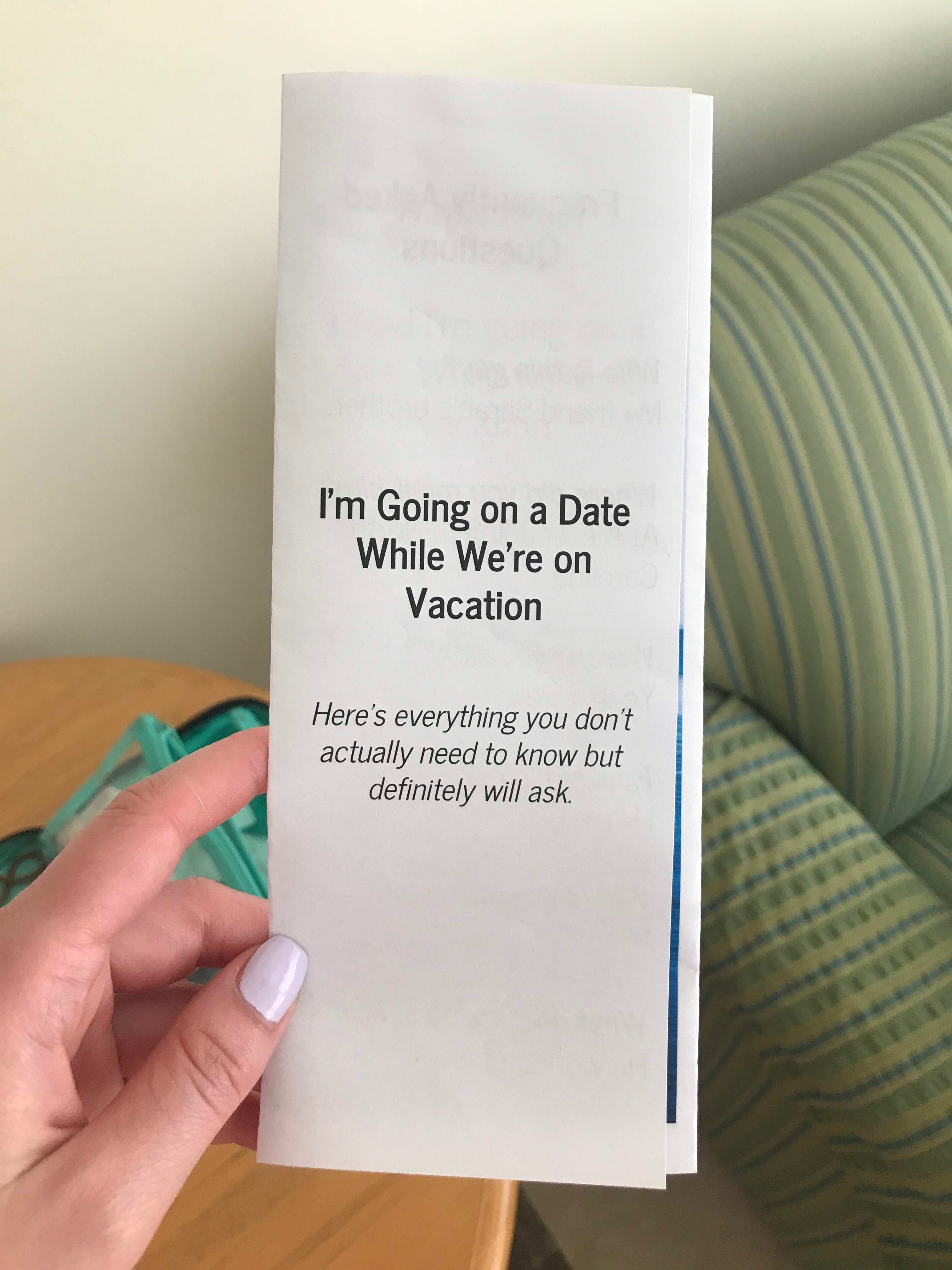 Barone made a very comprehensive brochure to answer all of her family's burning questions.