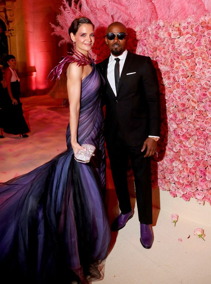 Katie Holmes and Jamie Foxx attend the 2019 Met Gala at Metropolitan Museum of Art on May 6, 2019 in New York City.