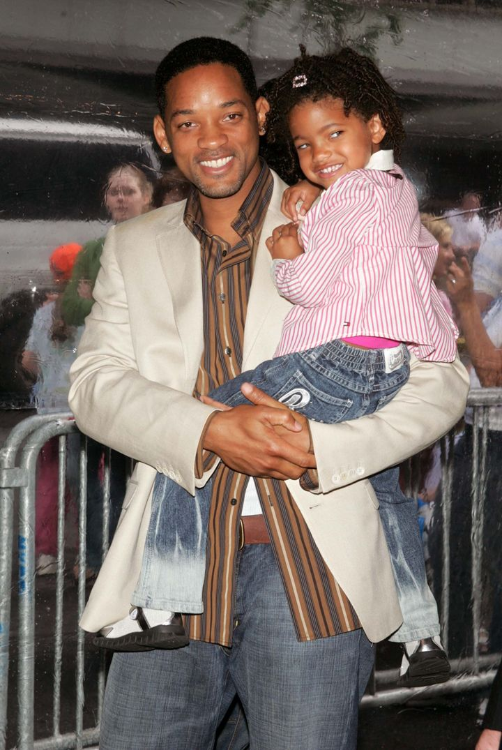 Will and Willow Smith when she was a little girl.