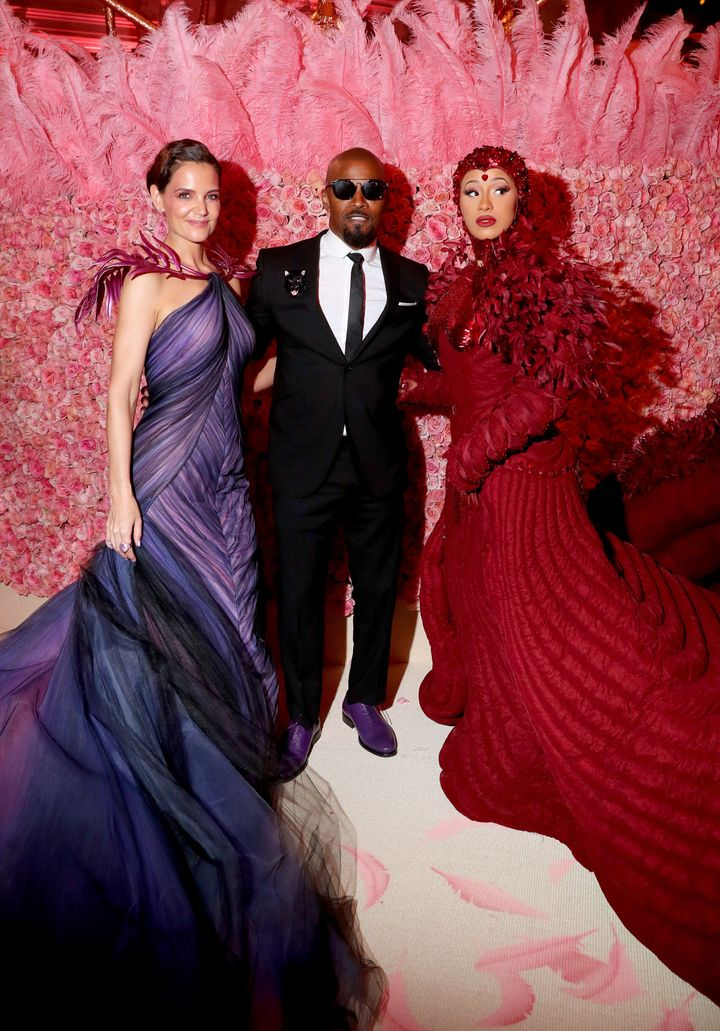 Katie Holmes, Jamie Foxx and Cardi B attend The 2019 Met Gala.