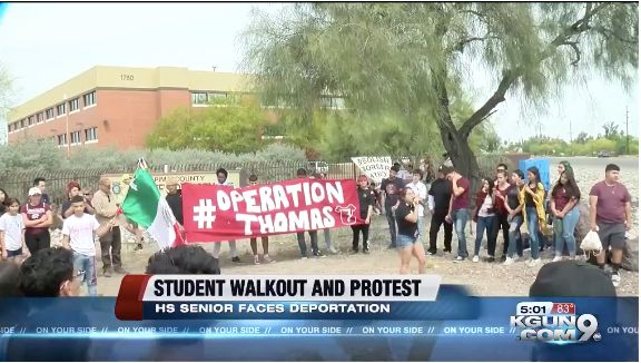Arizona High School Students Walk Out After Border Patrol Detains