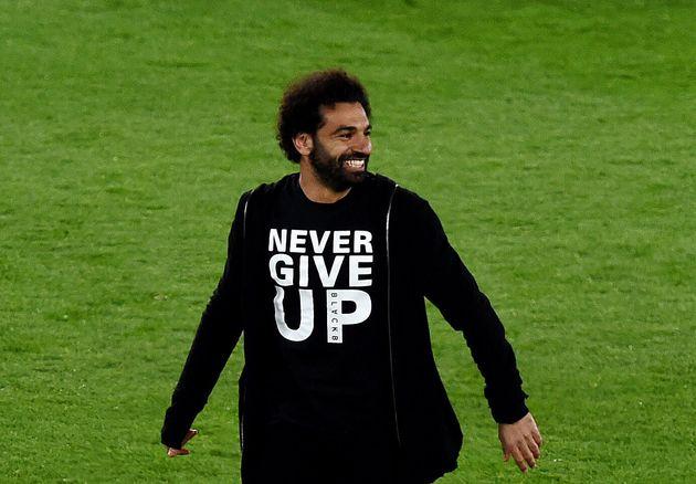 Liverpool - Barcelone: Mohamed Salah arborait le t-shirt