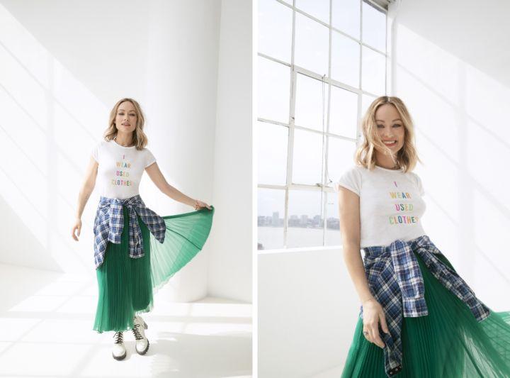 オリヴィア・ワイルドとThreadUPがコラボしたファッションライン「Choose