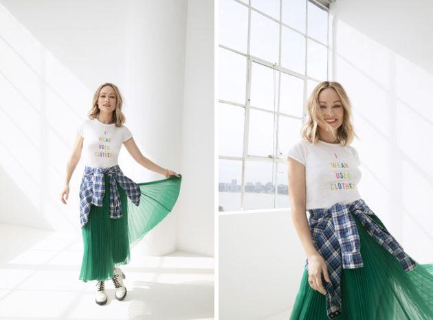 オリヴィア・ワイルドとThreadUPがコラボしたファッションライン「Choose Used」