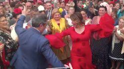 Susana Díaz se arranca a bailar sevillanas al ritmo de José Manuel Soto: ¡Y