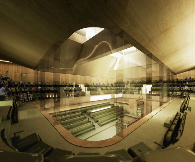 First Designs For New Temporary House Of Commons Chamber