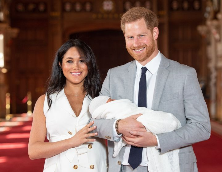 The Duke and Duchess of Sussex introduce their son to the world at a photocall on Wednesday.